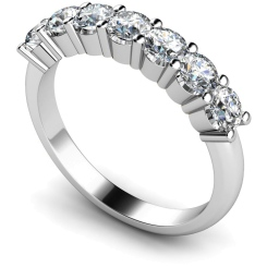 HRRTR223 Round 7 Stone Diamond Ring - white