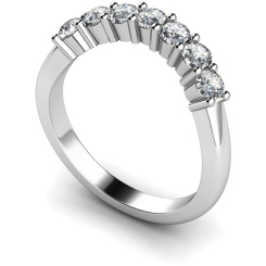 HRRTR224 Round 7 Stone Diamond Ring - white