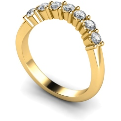 HRRTR224 Round 7 Stone Diamond Ring - yellow