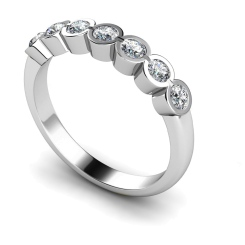 HRRTR227 Round 7 Stone Diamond Ring - white