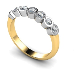HRRTR227 Round 7 Stone Diamond Ring - yellow