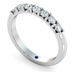 HRRTR228 Round 7 Stone Diamond Ring - white