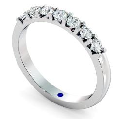 HRRTR228 Round 7 Stone Diamond Ring - white