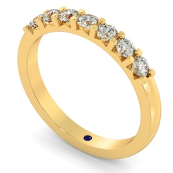 HRRTR228 Round 7 Stone Diamond Ring - yellow