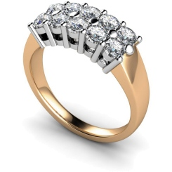 HRRTR230 Round Cluster 10 Stone Diamond Ring - rose