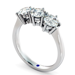 HRRTR90 3 Round Diamonds Trilogy Ring - white