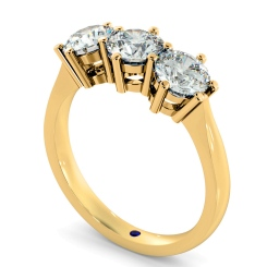 HRRTR90 3 Round Diamonds Trilogy Ring - yellow