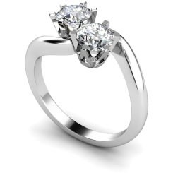 HRRTW86 Twin Round Diamond Ring - white