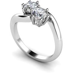 HRRTW87 Twin Round Diamond Ring - white