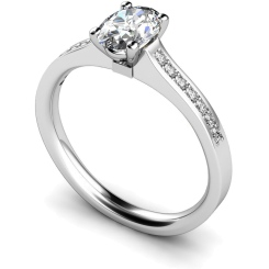 HRXSD449 Oval Shoulder Diamond Ring - white