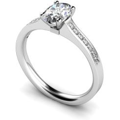 HRXSD449 Oval Shoulder Diamond Ring - white