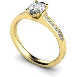 HRXSD449 Oval Shoulder Diamond Ring - yellow