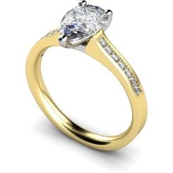 HRXSD453 Pear Shoulder Diamond Ring - yellow