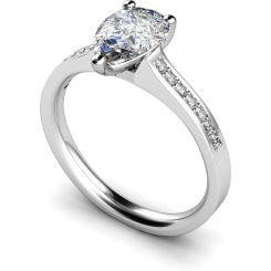 HRXSD453 Pear Shoulder Diamond Ring - white