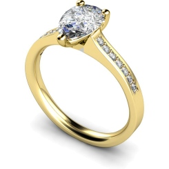 HRXSD453 Pear Shoulder Diamond Ring - yellow