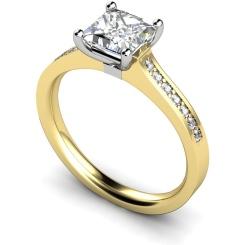 HRXSD455 Princess Shoulder Diamond Ring - yellow