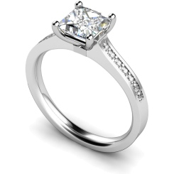 HRXSD455 Princess Shoulder Diamond Ring - white