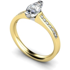 HRXSD472 Marquise Shoulder Diamond Ring - yellow