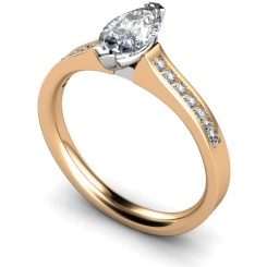 HRXSD472 Marquise Shoulder Diamond Ring - rose