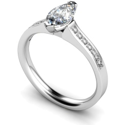 HRXSD472 Marquise Shoulder Diamond Ring - white