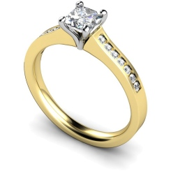 HRXSD570 Princess Shoulder Diamond Ring - yellow