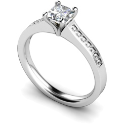 HRXSD570 Princess Shoulder Diamond Ring - white