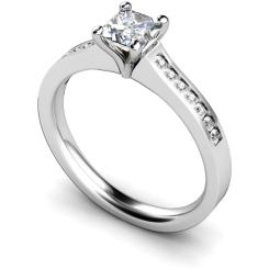 HRXSD570 Princess Shoulder Diamond Ring - white