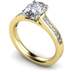 HRXSD586 Oval Shoulder Diamond Ring - yellow