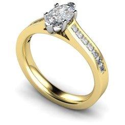 HRXSD601 Marquise Shoulder Diamond Ring - yellow
