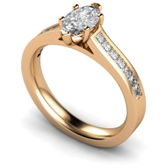 HRXSD601 Marquise Shoulder Diamond Ring - rose
