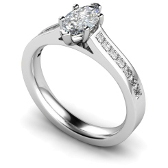 HRXSD601 Marquise Shoulder Diamond Ring - white