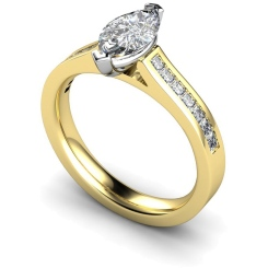 HRXSD603 Marquise Shoulder Diamond Ring - yellow