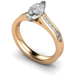 HRXSD603 Marquise Shoulder Diamond Ring - rose