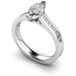 HRXSD603 Marquise Shoulder Diamond Ring - white