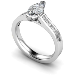HRXSD603 Marquise Shoulder Diamond Ring - white