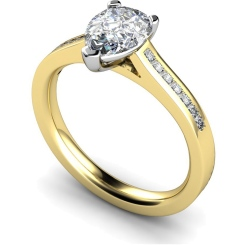 HRXSD606 Pear Shoulder Diamond Ring - yellow