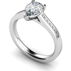 HRXSD606 Pear Shoulder Diamond Ring - white
