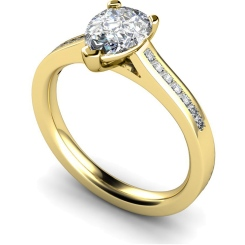 HRXSD606 Pear Shoulder Diamond Ring - yellow