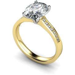 HRXSD612 Oval Shoulder Diamond Ring - yellow