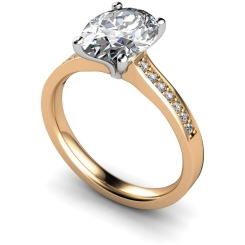 HRXSD612 Oval Shoulder Diamond Ring - rose