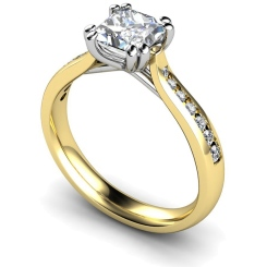 HRXSD628 Princess Shoulder Diamond Ring - yellow