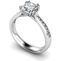 HRXSD628 Princess Shoulder Diamond Ring - white