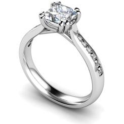 HRXSD628 Princess Shoulder Diamond Ring - white