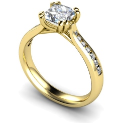 HRXSD628 Princess Shoulder Diamond Ring - yellow