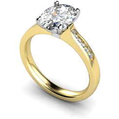 HRXSD634 Oval Shoulder Diamond Ring - yellow