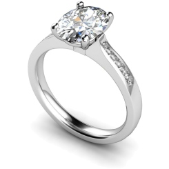 HRXSD634 Oval Shoulder Diamond Ring - white