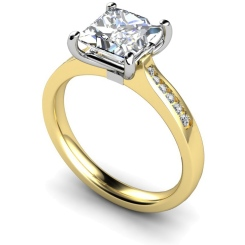 HRXSD635 Princess Shoulder Diamond Ring - yellow