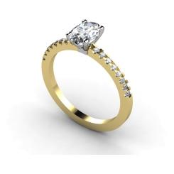 HRXSD647 Oval Shoulder Diamond Ring - yellow