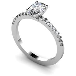 HRXSD647 Oval Shoulder Diamond Ring - white