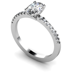 HRXSD647 Oval Shoulder Diamond Ring - white